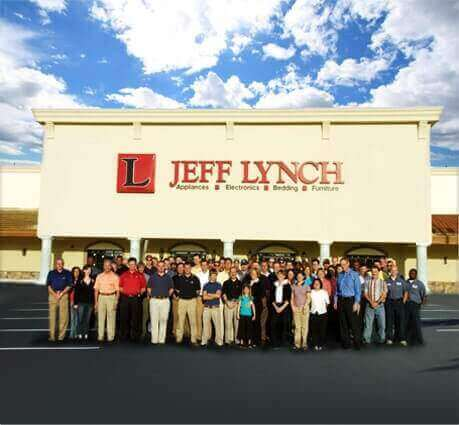 store front of Jeff Lynch with employees